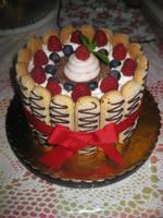 Chocolate Raspberry Cake by rltan888