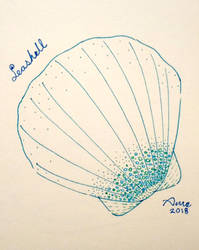 Inktober 2018 - 03 Seashell by mieame