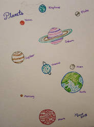 Inktober 2018 - 07 Planets by mieame