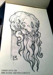 Cthulhu Head Study by TentaclesandTeeth