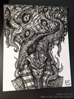 Nyarlathotep and Azathoth Final Pencils by TentaclesandTeeth