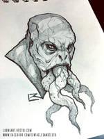 Monster Sketch by TentaclesandTeeth