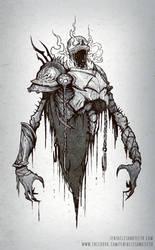Skeletal Warrior by TentaclesandTeeth