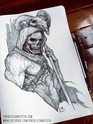 Skeletor Drawing by TentaclesandTeeth