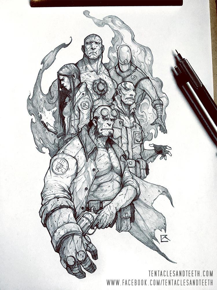 Hellboy BPRD by TentaclesandTeeth