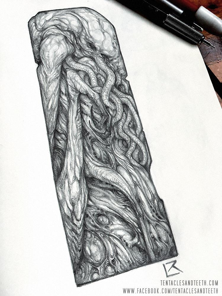 Cthulhu Totem by TentaclesandTeeth