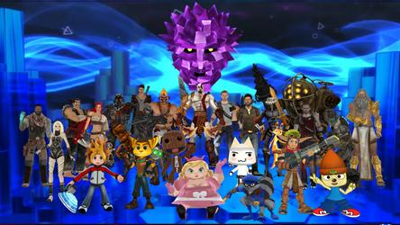 MMD PlayStation All-Stars Battle Royal by slyfan1030