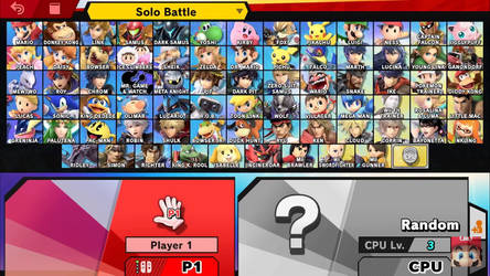 Smash Bros. Ultimate Roster by slyfan1030