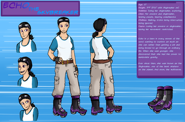 Character Sheet: Echo the Skybreaker by Chaos-Blue