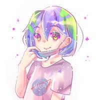 Earth-chan by Hisiyana