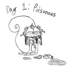 Inktober-Day 1-Poisonous Agony by Midnight-Lovestruck