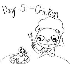 Day 5 - Inktober - Chicken Feast by Midnight-Lovestruck