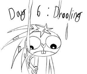 Day 6 - Inktober - Drooling Danger by Midnight-Lovestruck