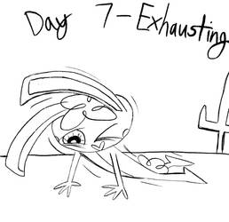 Inktober - Day 7 - Exhausting and Dying by Midnight-Lovestruck