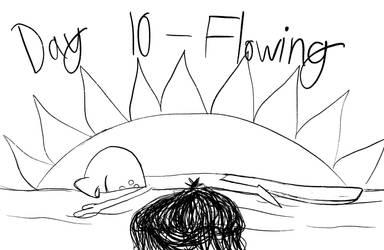 Inktober - Day 10 - Flowing Corpse by Midnight-Lovestruck
