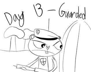 Inktober - Day 13 - Guarded At Base by Midnight-Lovestruck