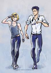 Sassy Yurio and Otabek by ayashige-doodles