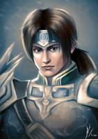 Portrait of Zhao Yun by Fihril