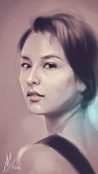 Portrait of Chelsea Islan by Fihril