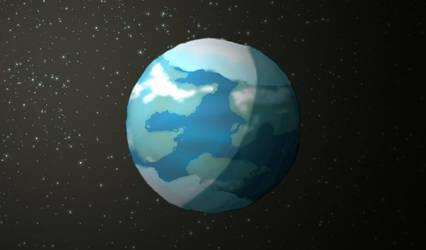 Kepler 62f by Hypergriff