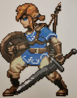 Legend of Zelda Breath of the Wild Link Perler by jrfromdallas