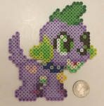 Equestria Girls Spike Perler by jrfromdallas