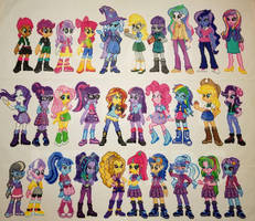 Equestria Girls Perlers - 30 Characters by jrfromdallas