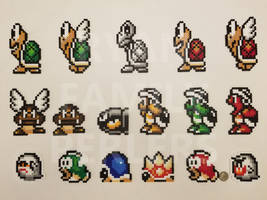 Super Mario All-Stars - SMB3 Enemy Perlers by jrfromdallas