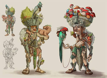 Seed Shaman Sketches by mizza88