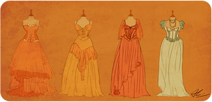 Marianna's Dresses by wickedevilbunny