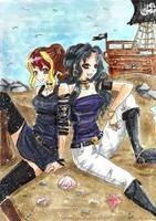 Naomi and Miu by BriniChan