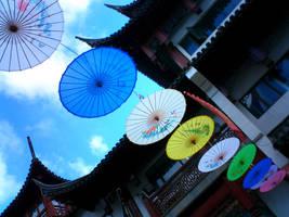 Umbrellas in Shanghai by TheBlueLummox