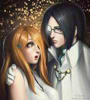 Orihime Inoue and Uryu Ishida (Bleach) by AyyaSAP