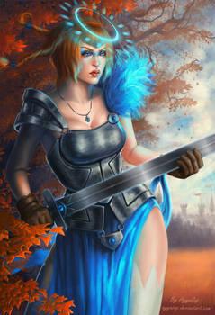 Warrior of light by AyyaSAP
