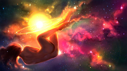 Nebula girl by AyyaSAP