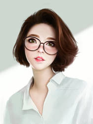 Asian girl study by AyyaSAP