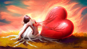 My great loving heart (redraw) by AyyaSAP