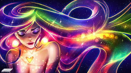 03/10/ Space Girl /speedpaint/ by AyyaSAP