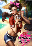Cruiser DVa PinUp (Overwatch) by AyyaSAP
