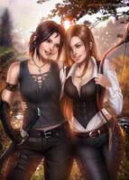 Jaina and Marlene (commission) by AyyaSAP
