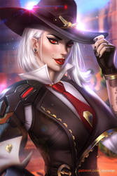 Ashe Overwatch (quick drawing) by AyyaSAP