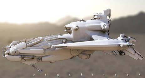 Robot spy ship by angelitoon
