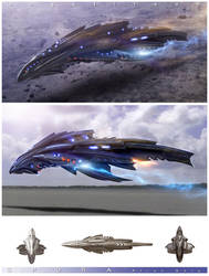 SPORA Alien Ship by angelitoon