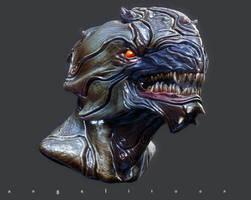 Creature bust Evolution by angelitoon