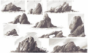Rocks Study by angelitoon