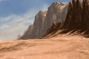 Desert rocks by angelitoon