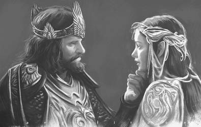 ARWEN and the King by angelitoon