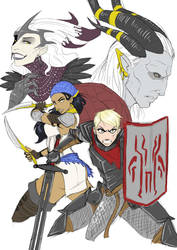Dragon Age Splash --Rough Art-- by Blunt-Katana
