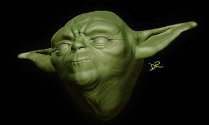 Yoda 3D WIP by DanieleRedRossini