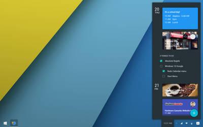 Windows 10 Google: Calendar Menu by wwsalmon